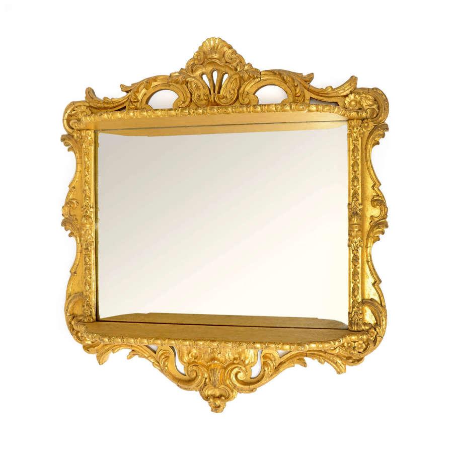 19th Century Continental gilt mirror