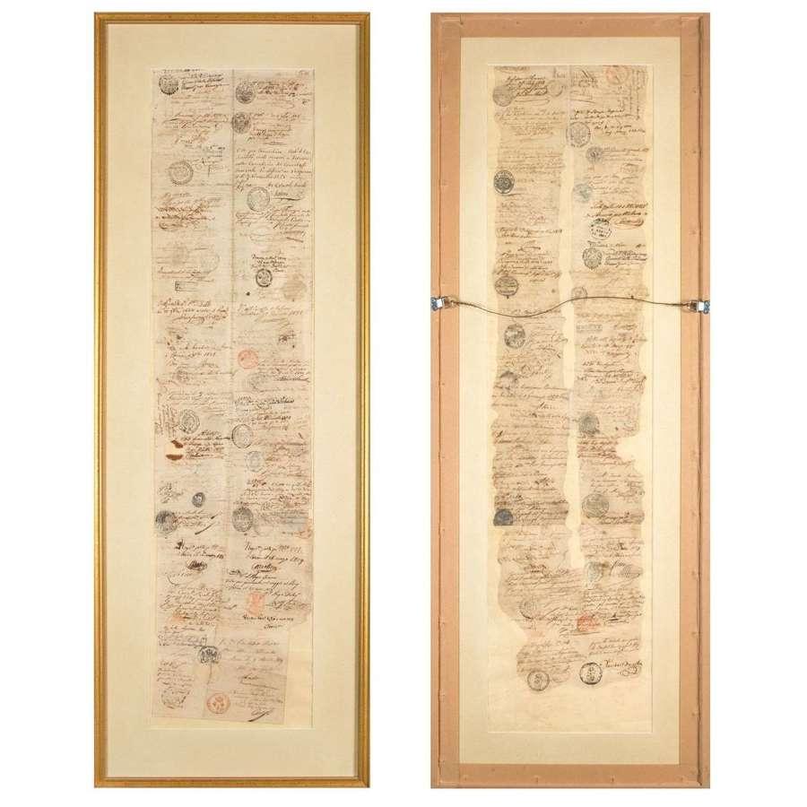 19th Century grand tour passports for Europe