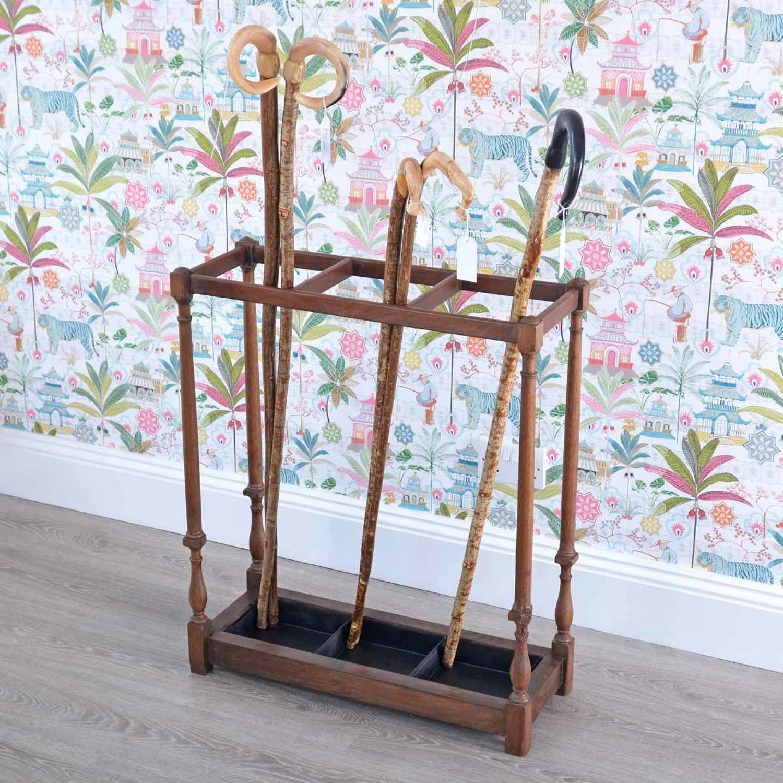 Tall mahogany stick stand