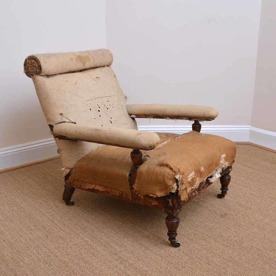 Howard style open armchair