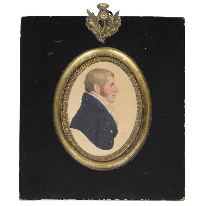 Scottish portrait miniature of a gentleman