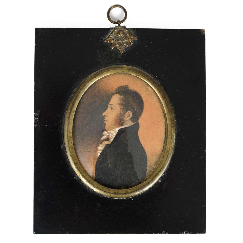 Portrait miniature of a young gentleman
