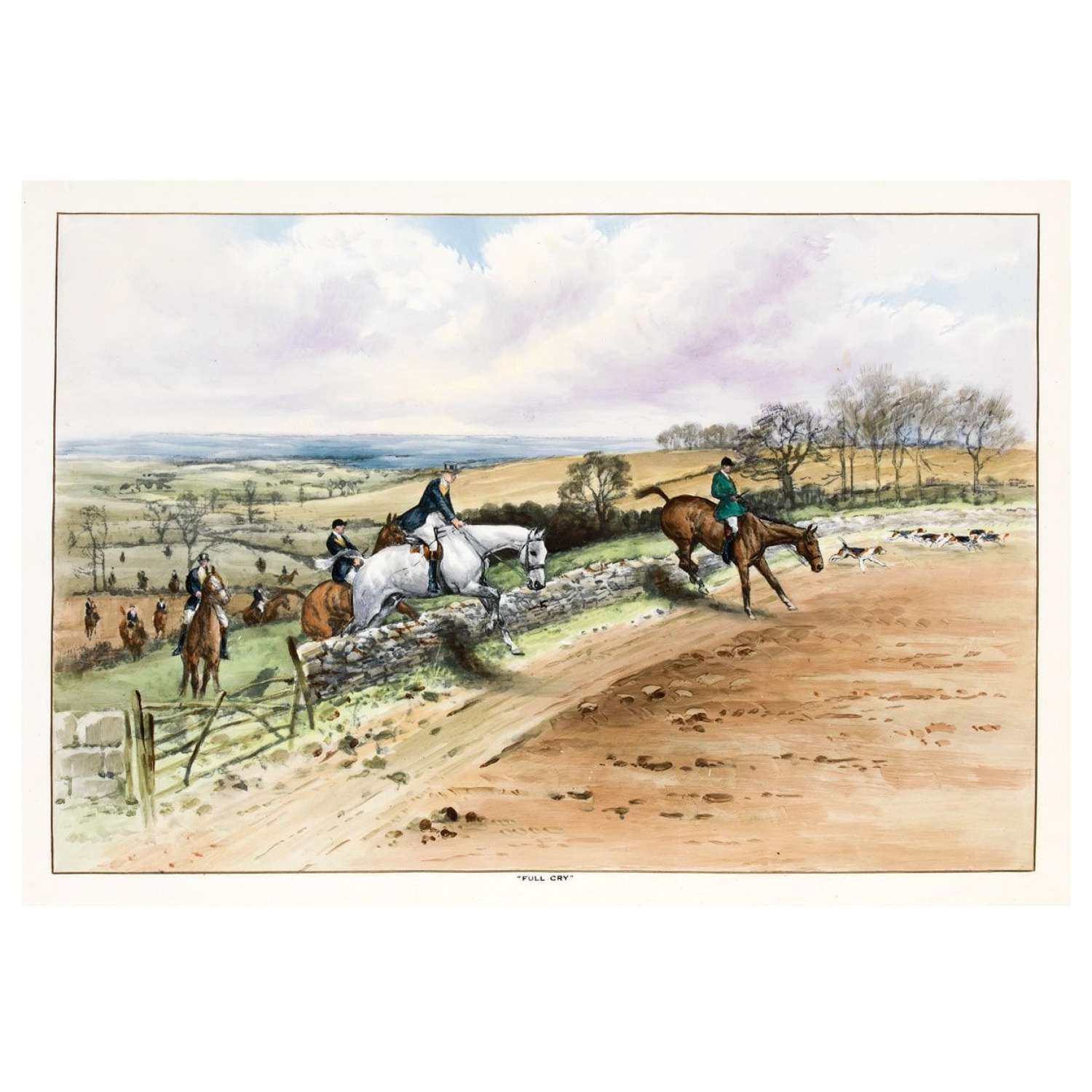 Lionel Edwards ceramic panel the Beaufort Hunt - By Copeland and So