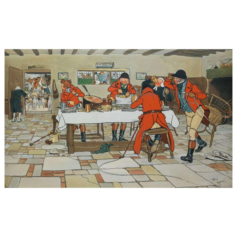 Cecil Charles Windsor Aldin - The Fallowfield Hunt Breakfast