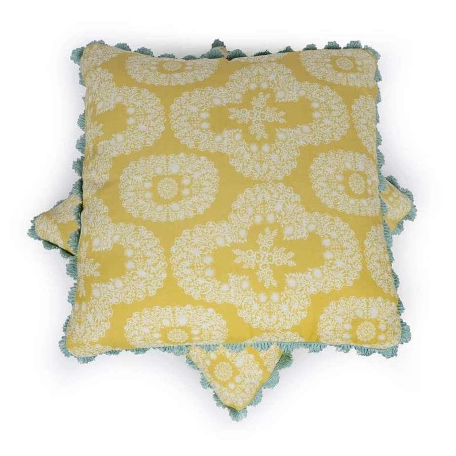 Charlotte Gaisford cushions - Chandolin Flower