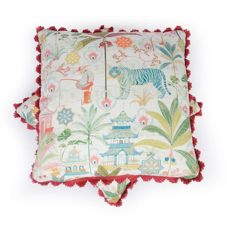 Charlotte Gaisford cushions - Tiger Blue