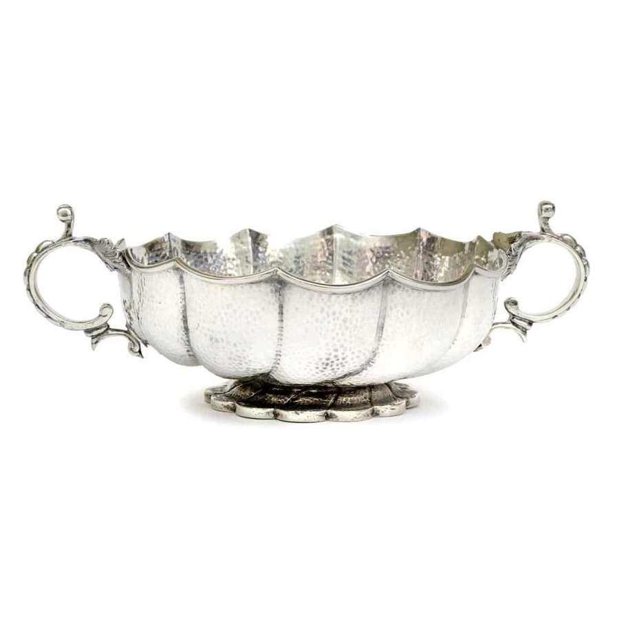 Art Nouveau Turkish Style hand beaten silver bowl - Lambert & Co
