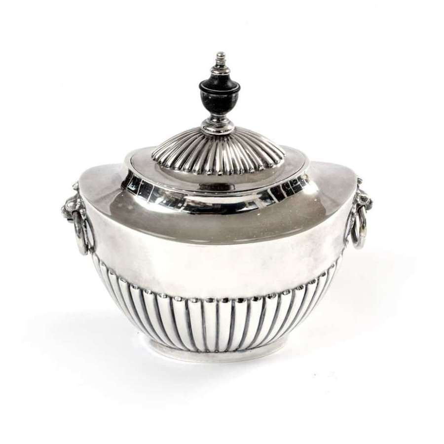 Silver plated sugar pot - by Goldsmiths and Silversmiths Company