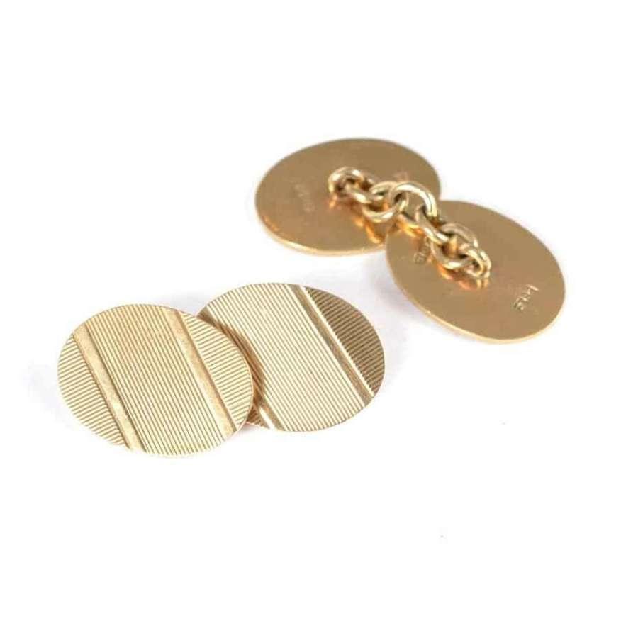 Pair of 9ct gold cufflinks