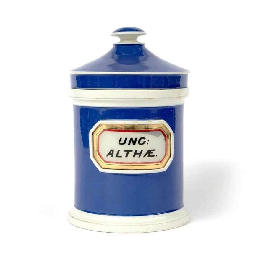 Ceramic apothecary drug jar
