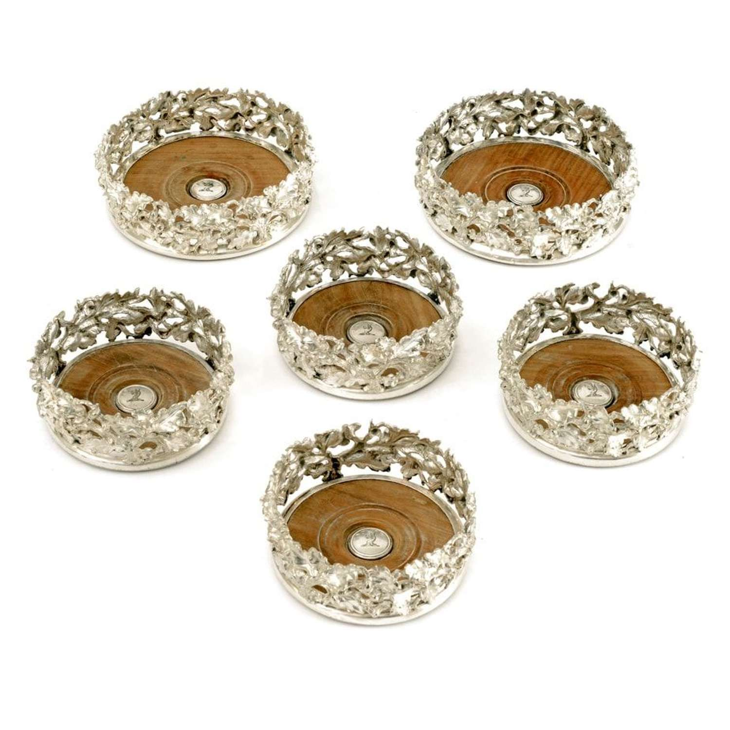 Set of 6 Elkington & Co silver plated coasters