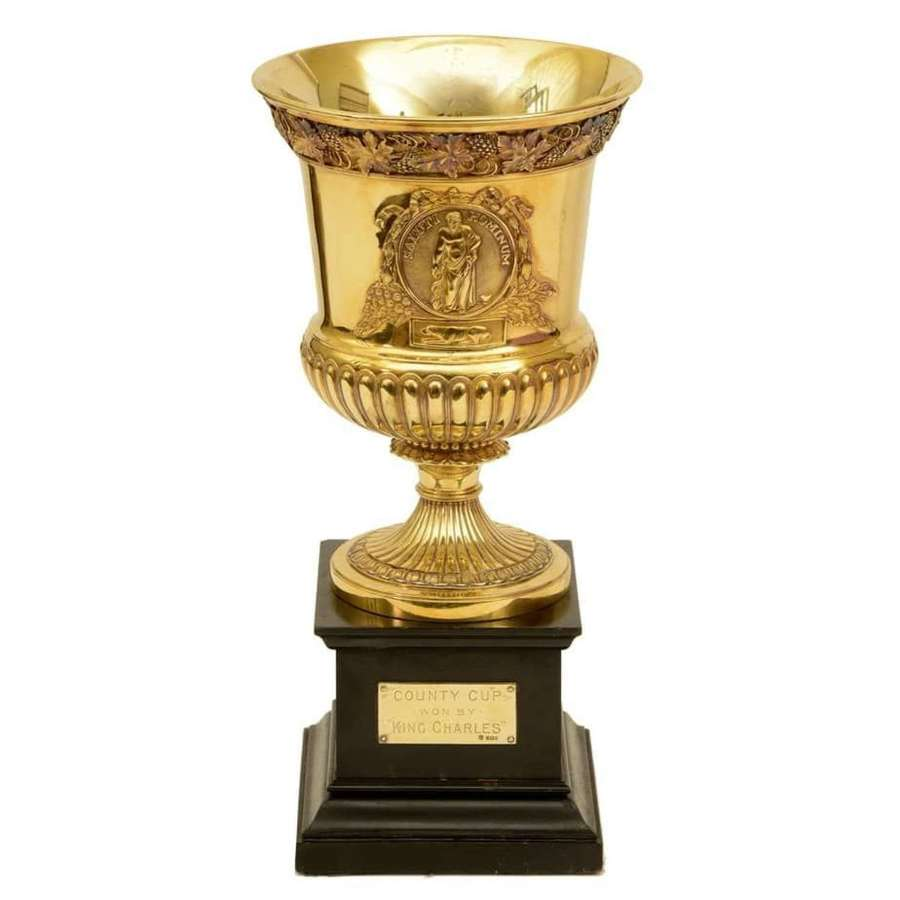 Silver gilt racing cup for the Western Meeting Ayr - BY Watherston