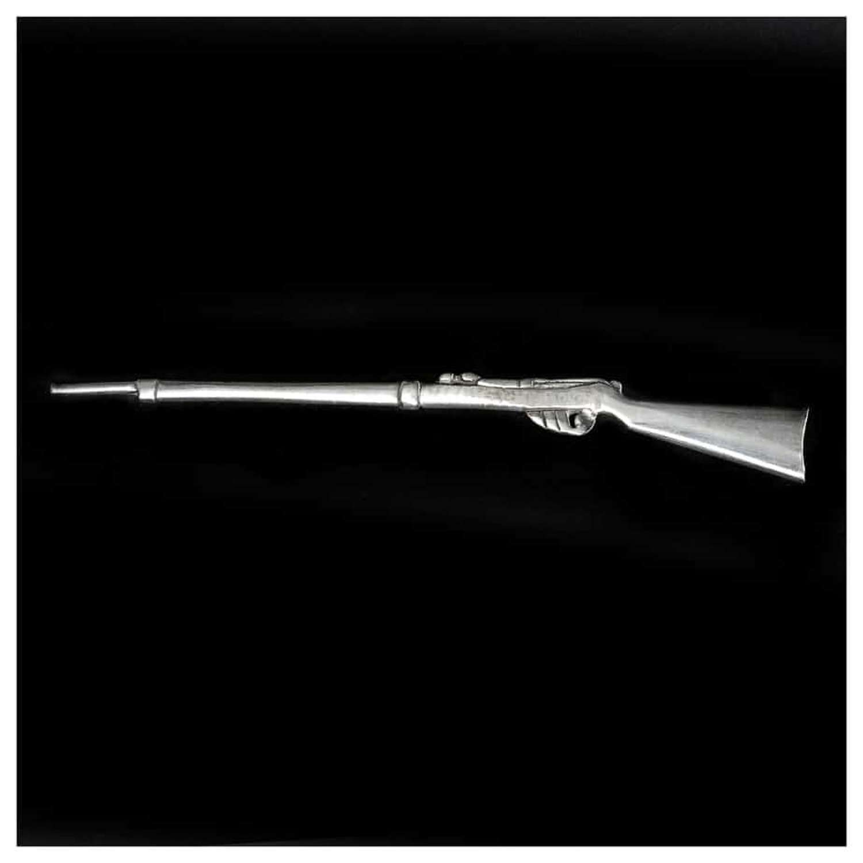 Novelty miniature silver rifle