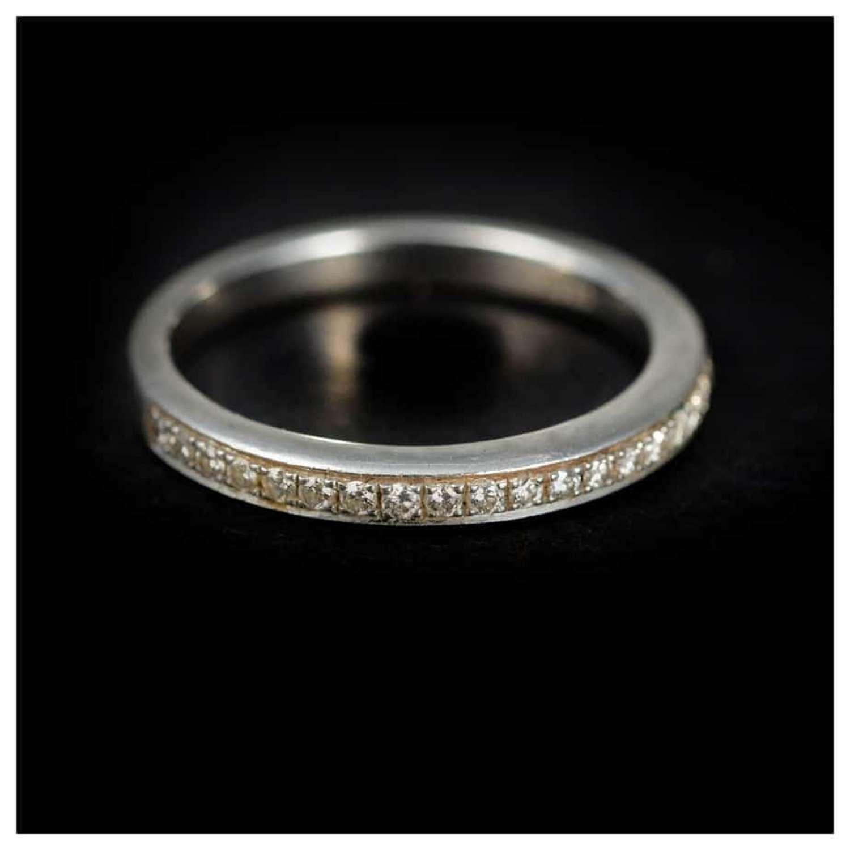 Diamond half hoop eternity ring