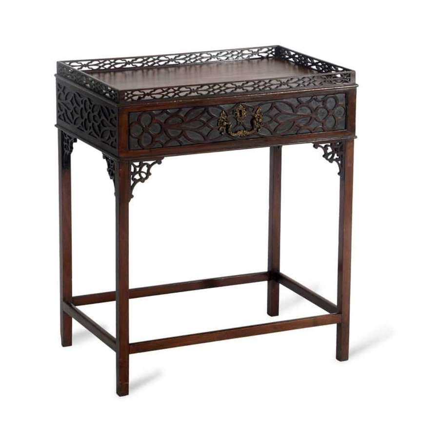 Chippendale style mahogany centre table