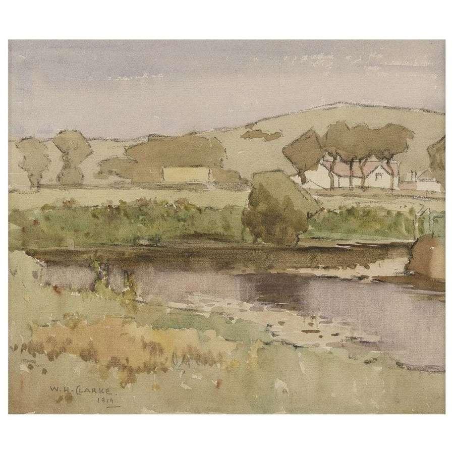 William Hanna Clarke - A Galloway Landscape