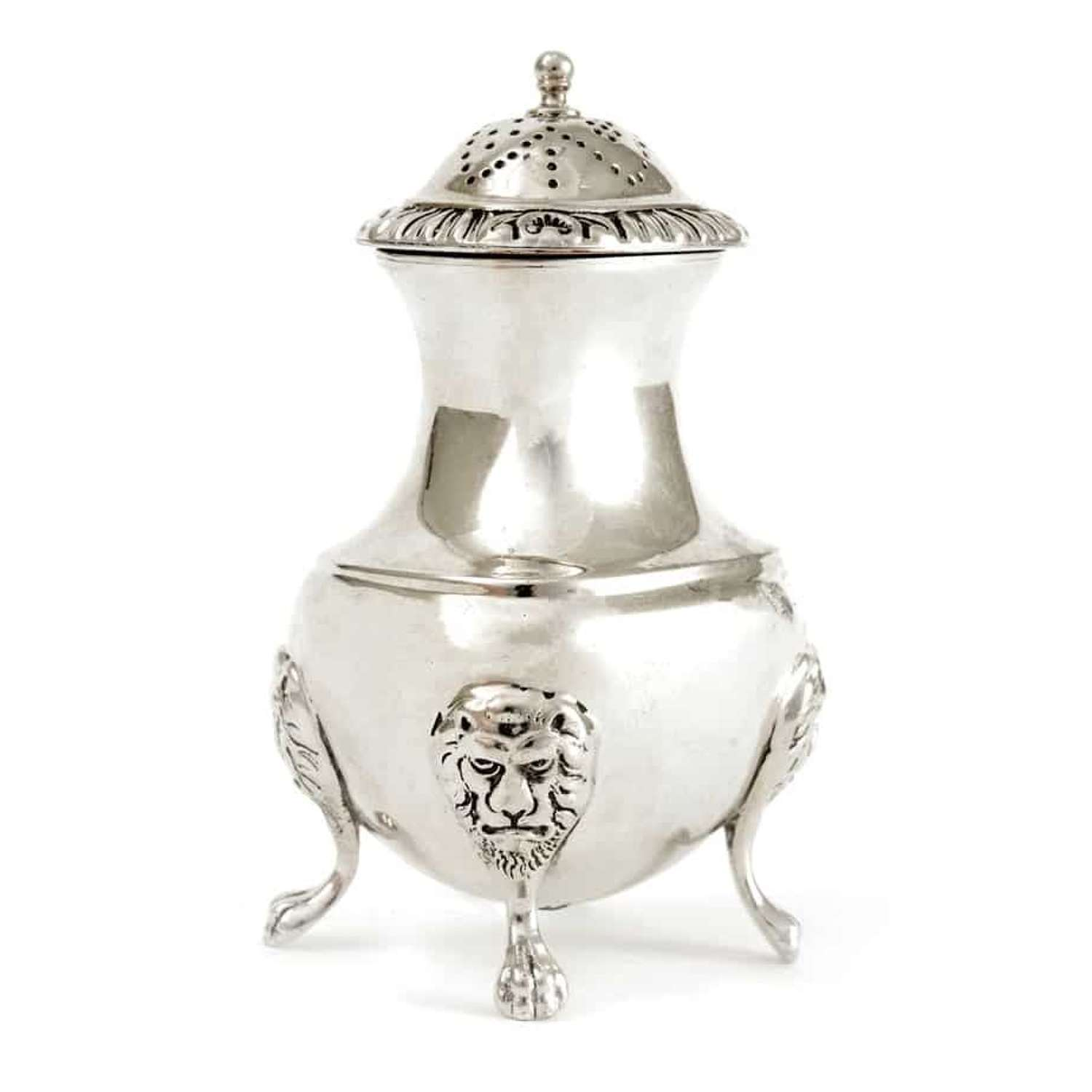 Silver plated pepper pot