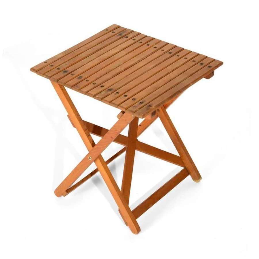 Mid Century teak folding table