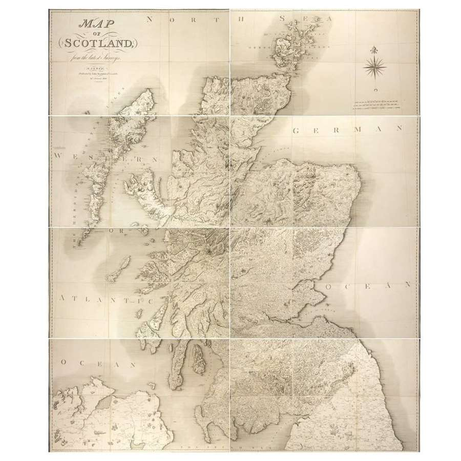 A Very Large 19th Century Map of Scotland
