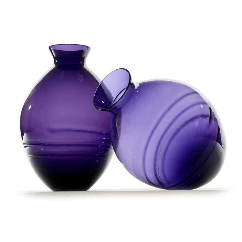 Mid 20th Century amethyst vases