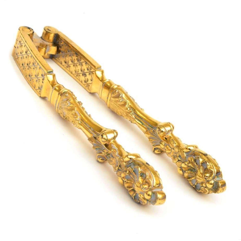 Pair of 19th Century Continental gilt metal nutcrackers