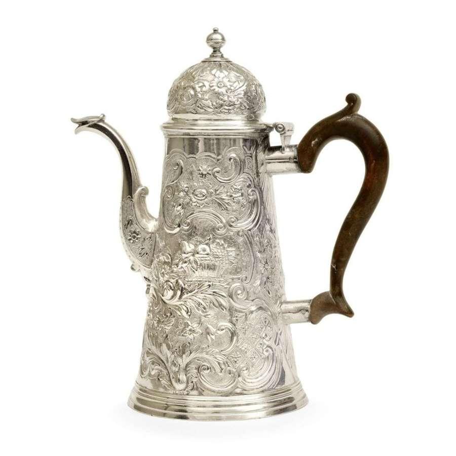 18th Century silver coffee pot