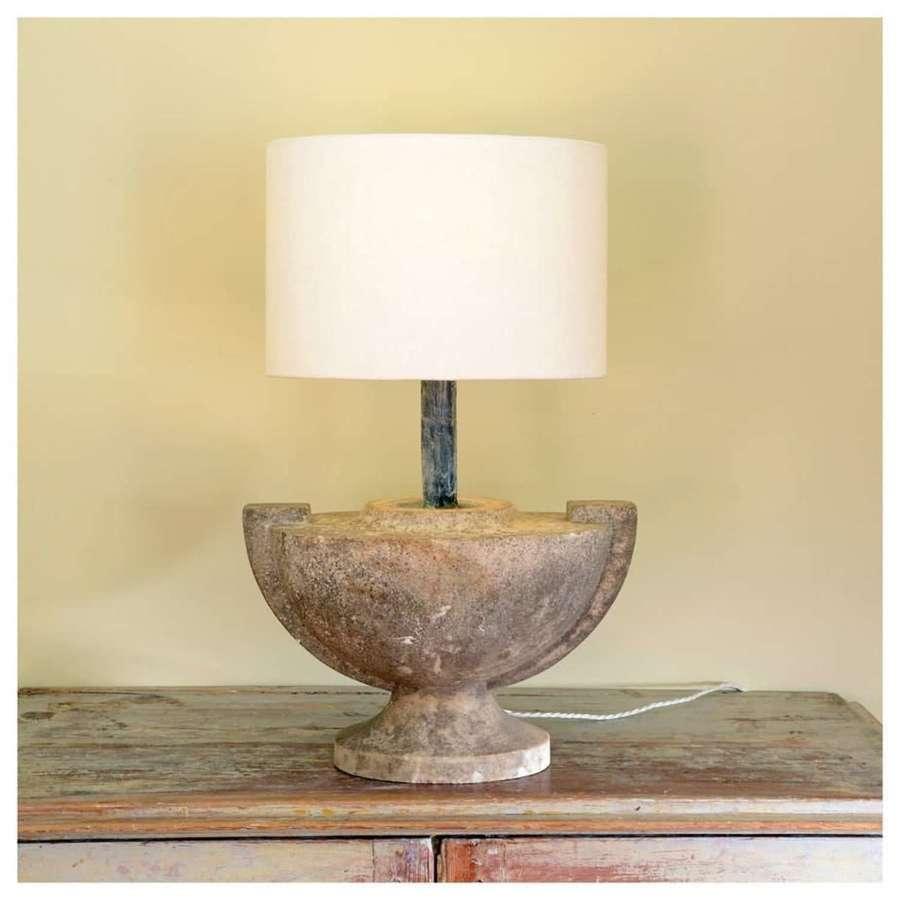 Marble urn lamp