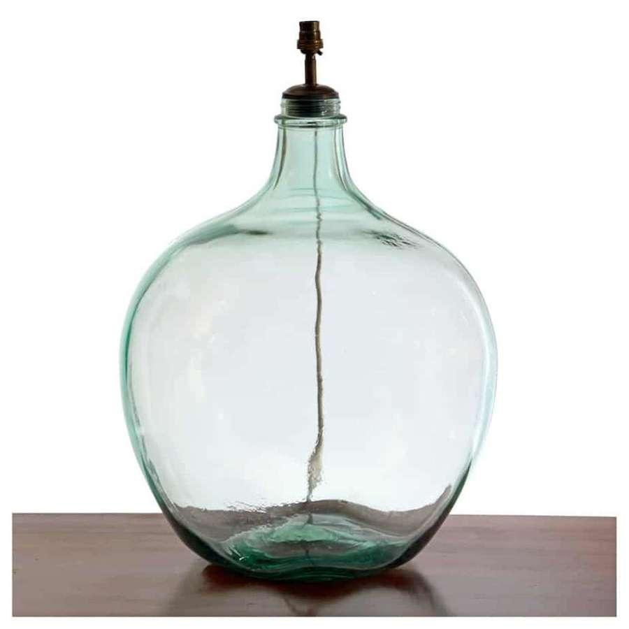 Large balloon glass bottle lamp