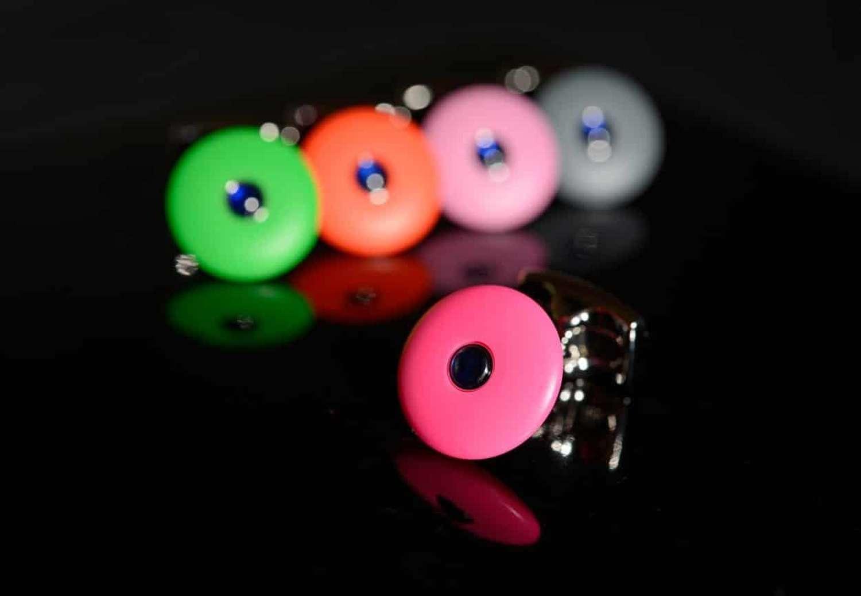 Colourful cufflinks