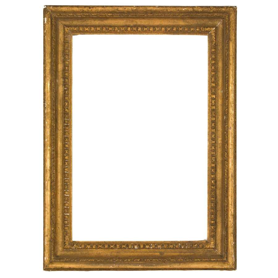 A 19th century carved wood and gesso gilt frame