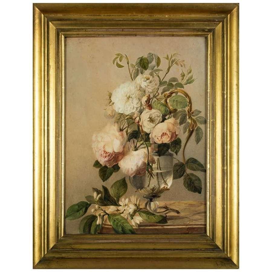 19th century British School - still life of roses