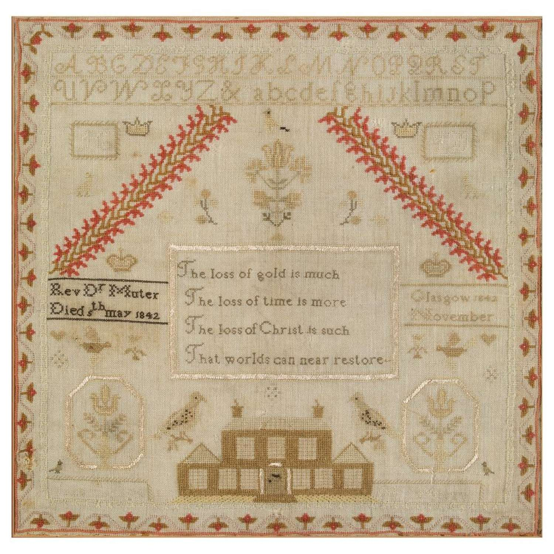 19th Century Scottish needlework sampler