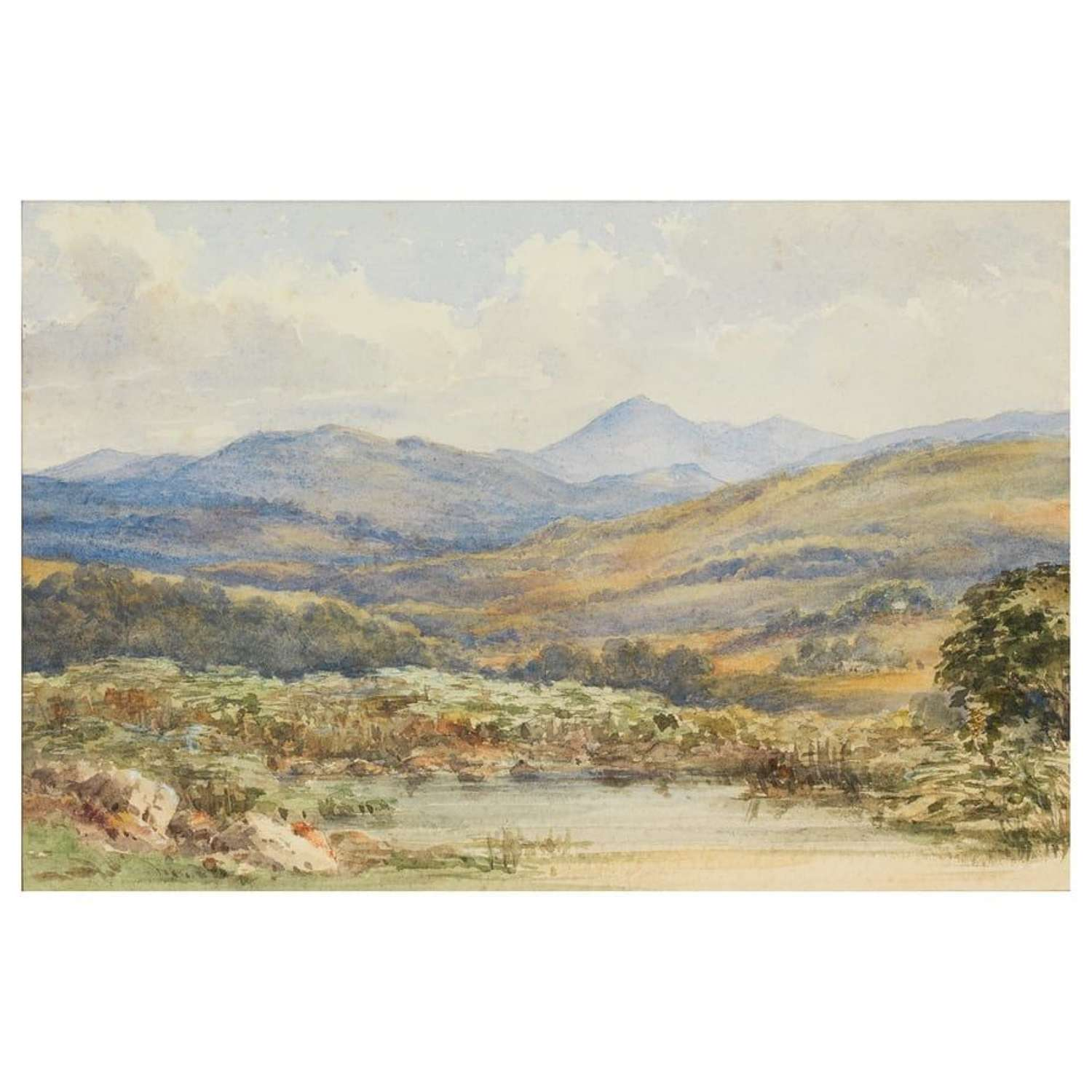 Horace Cole - Criffel from Crossford Hill