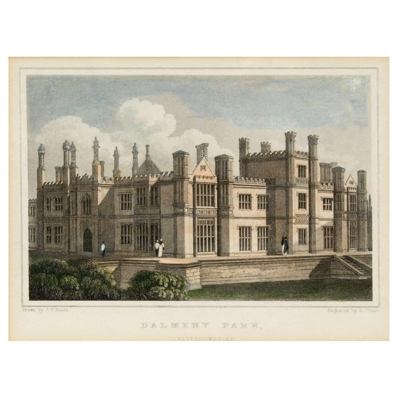 John Preston Neale - 3 prints of Scottish houses