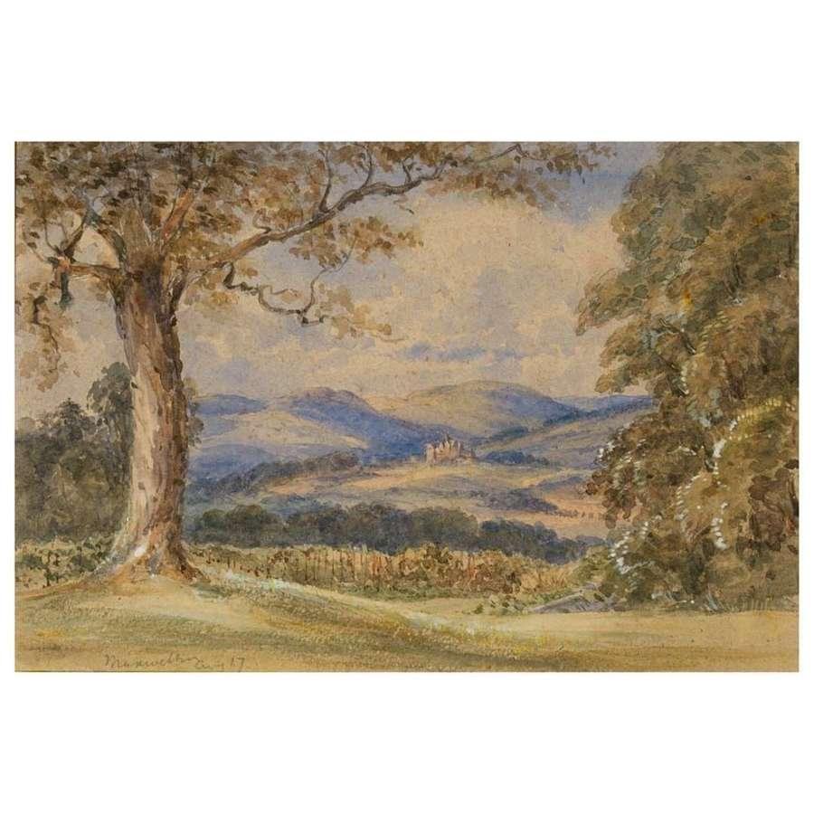 Horace Cole - Crawfordton from Maxwelton gardens
