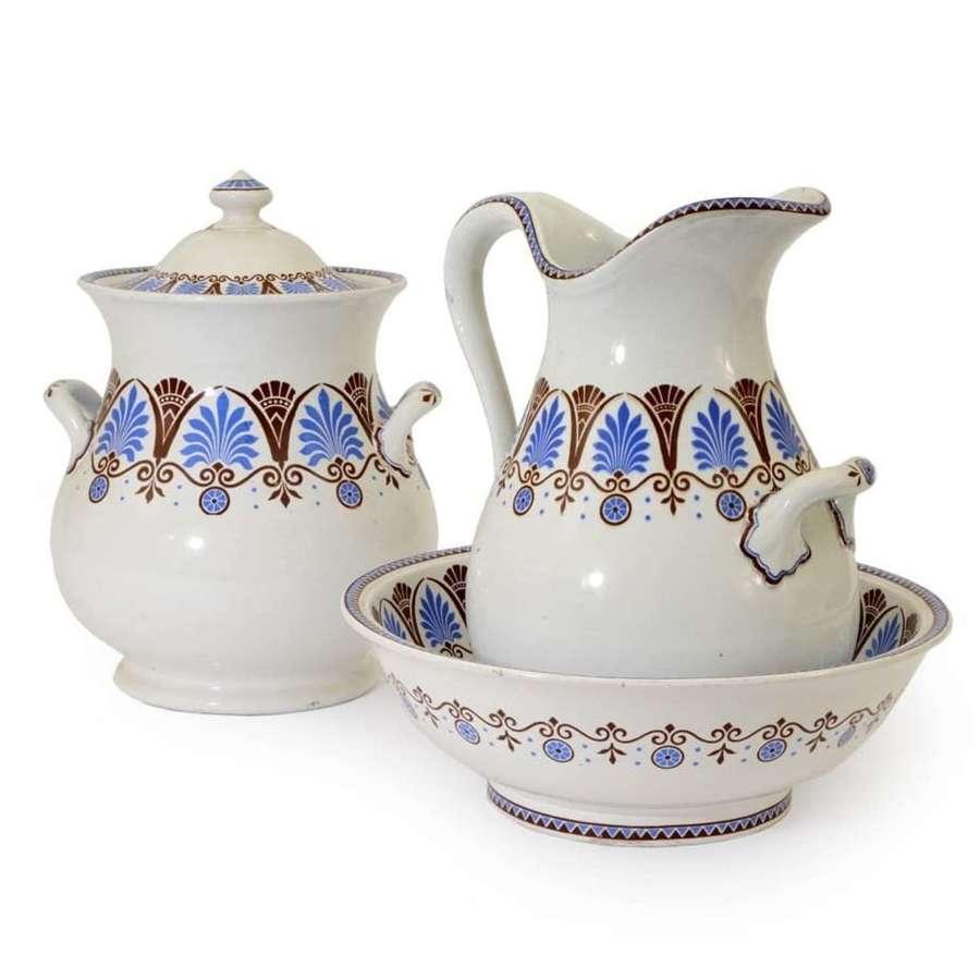 Aesthetic style jug and basin set