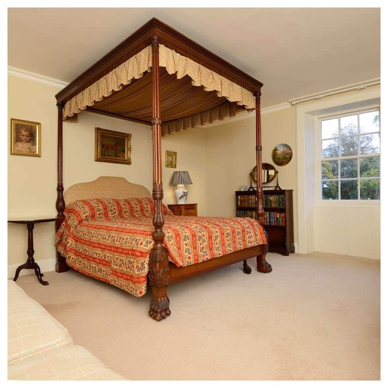 Irish mahogany four poster bed