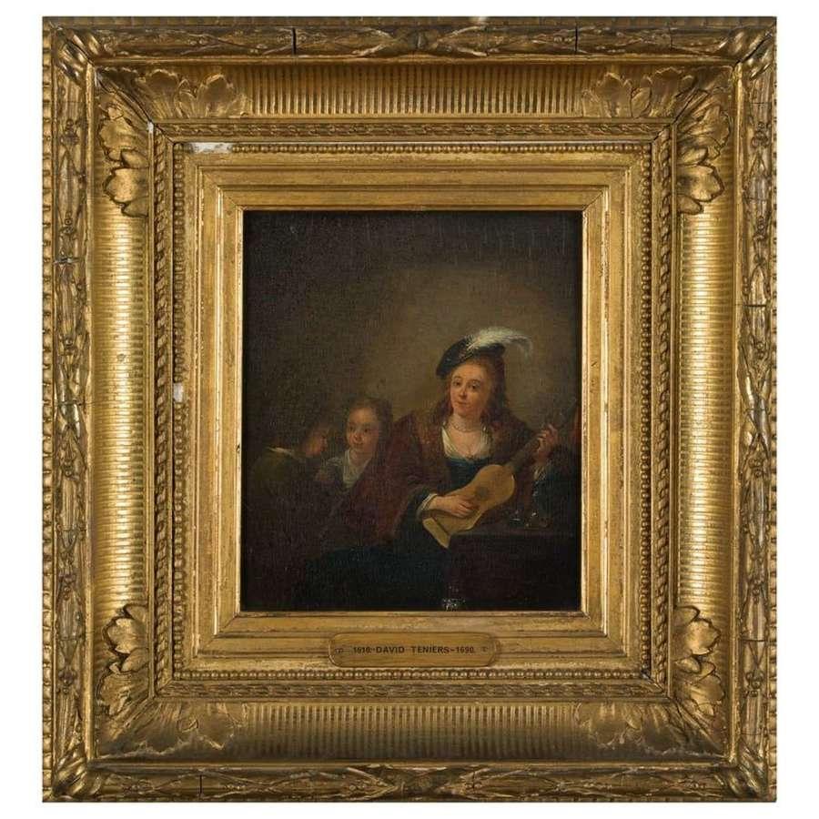 Follower of David Teniers (Belgium 1610-1690) The Guitar Player
