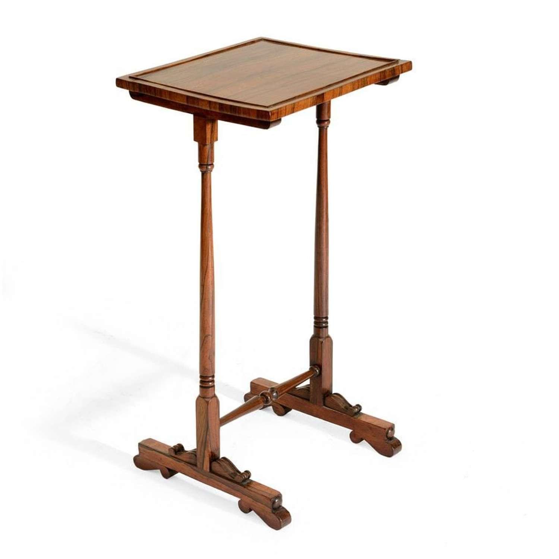 Small Regency rosewood wine table