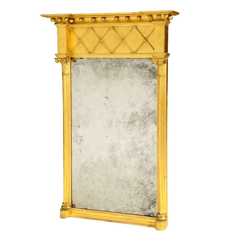 A Regency gilt wood pier mirror