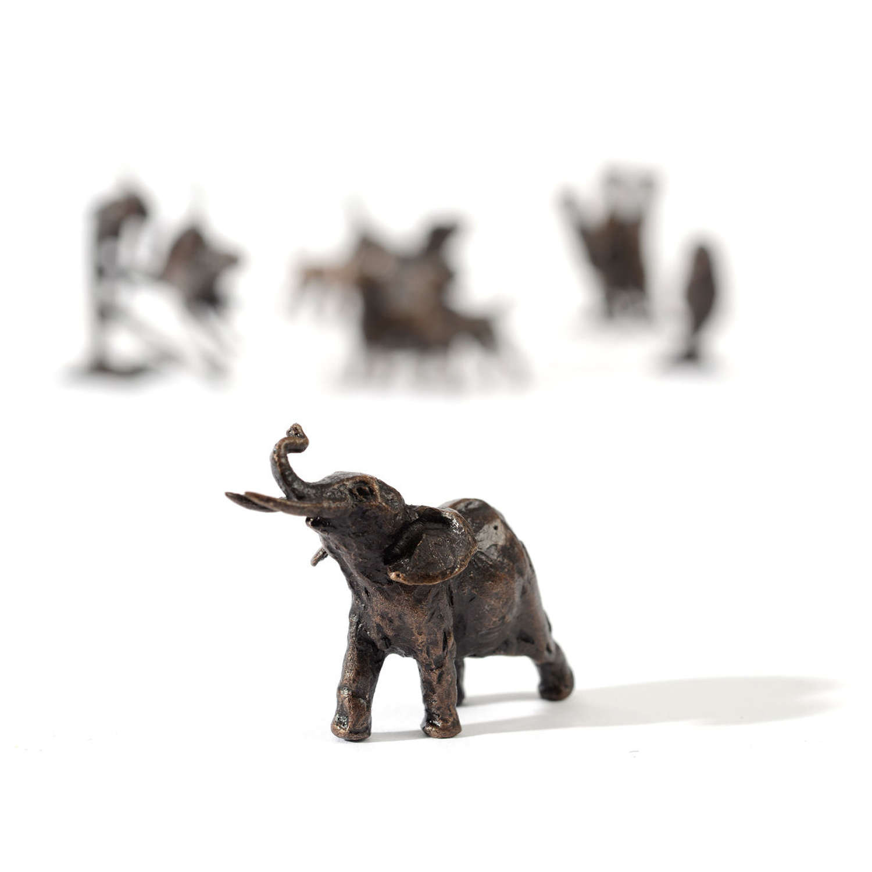 Butler & Peach Miniature Bronze Elephant