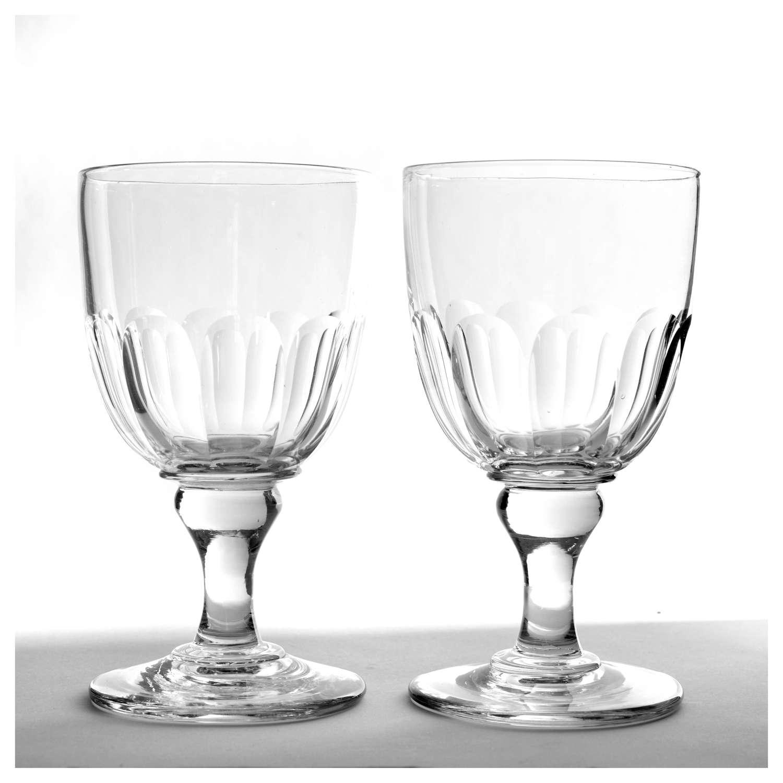 Pair of Regency rummers, or large wine glasses