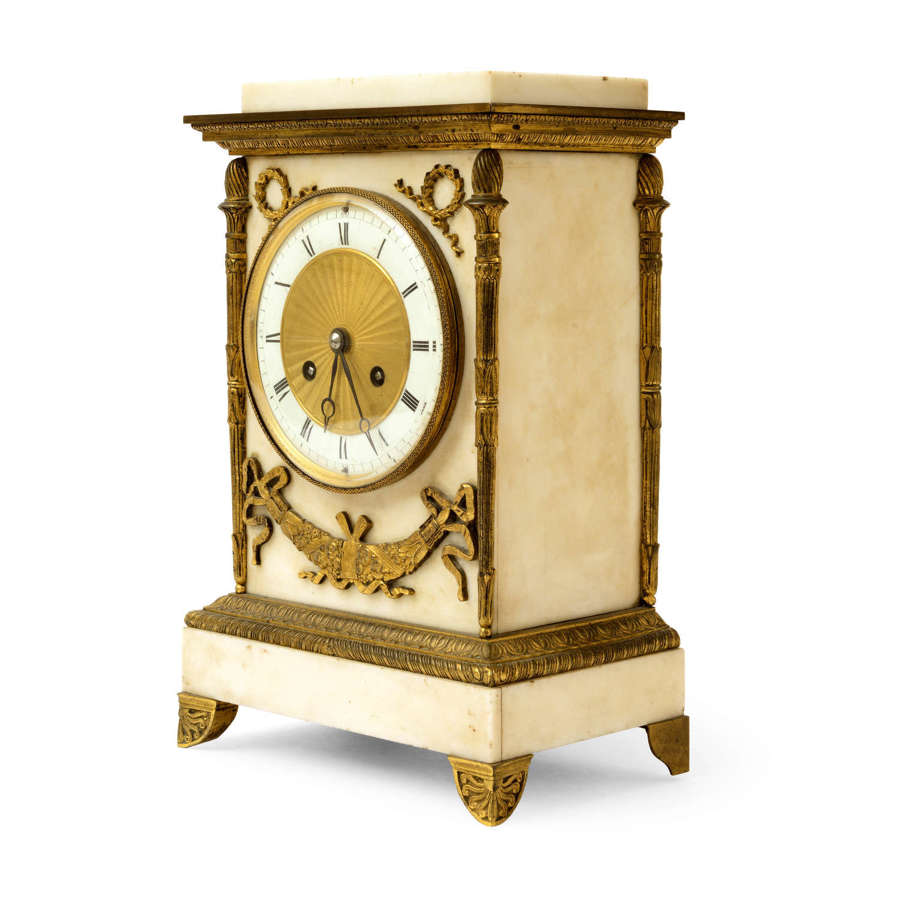 French marble and ormolu clock - by Lourdelet
