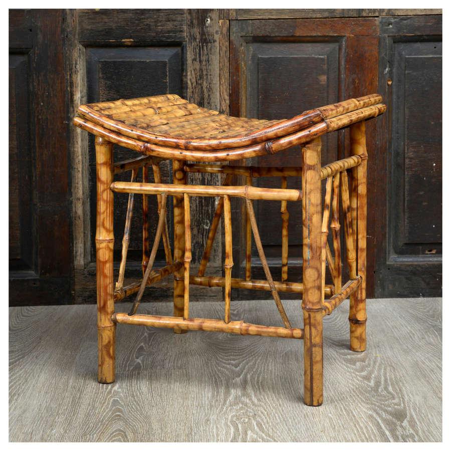 French saddle top bamboo stool