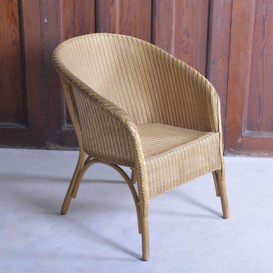 Lloyd Loom Lusty gold armchair