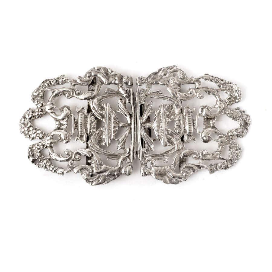 Victorian silver nurse's buckle