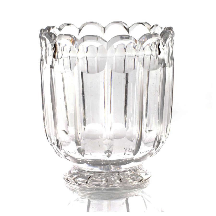 20th Century cut glass flower vase