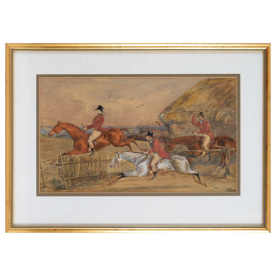 Pair of 19th Century hunting watercolours