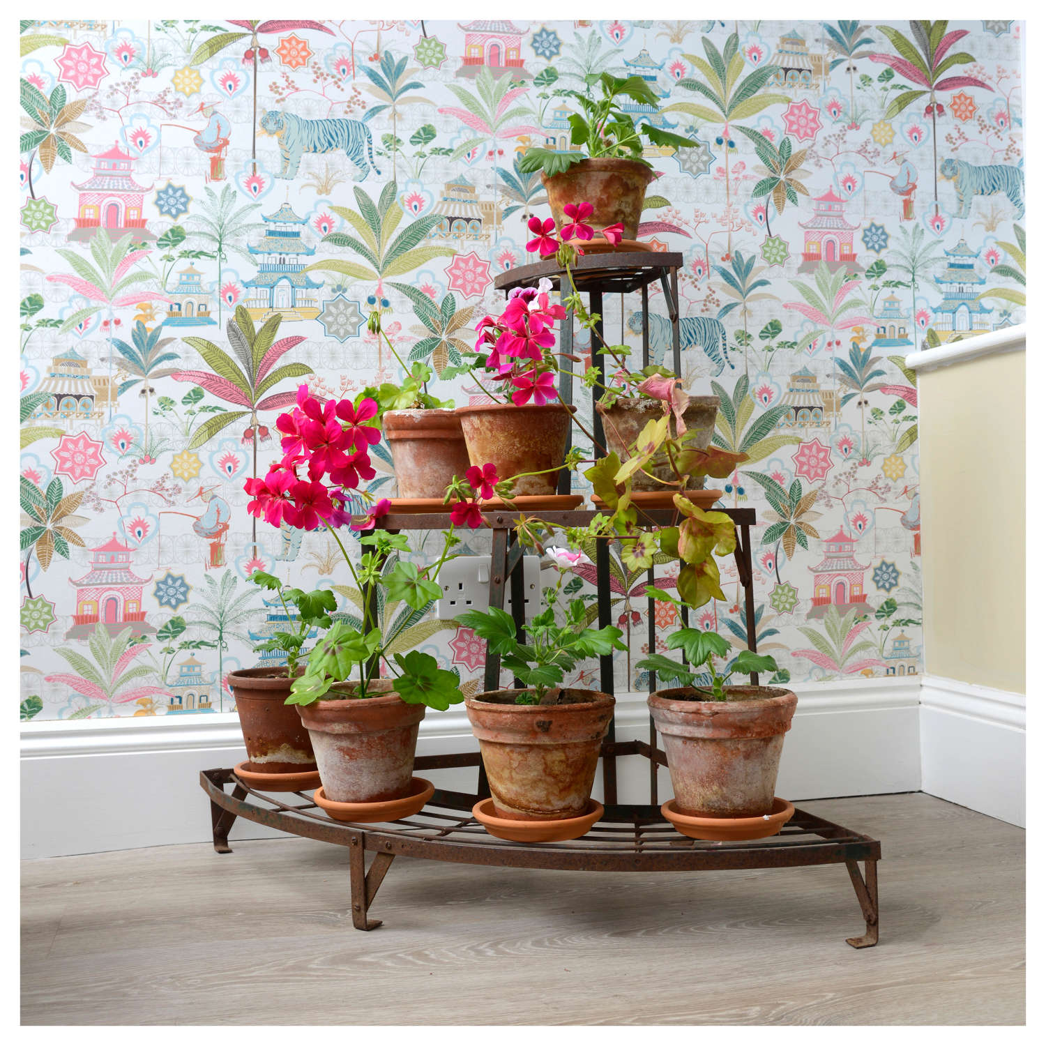 French 3 tier corner plant stand