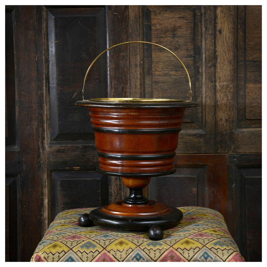 Dutch tea bucket, jardiniere, or champagne bucket
